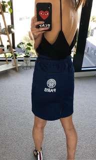Kenzo Paris Inspired Denim Elastic Skirt