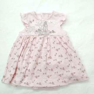 Eeyore 屹耳 BB嬰兒女粉紅色連身裙夾衣 (0-1M) Disney baby 全新
