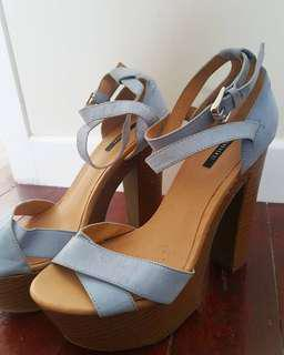 Blue and Tan Heels from Forever 21