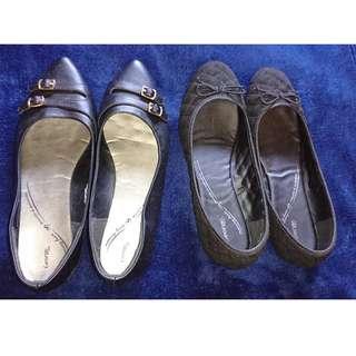 2 Pairs Women's Size 11 Flats