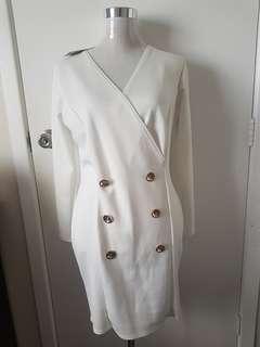 New Size 16 White Blazer Dress