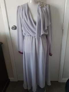 Beautiful Grey chiffon Dress