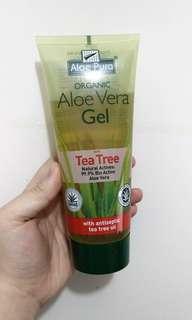 95%新 Aloe Pura Aloe Vera Gel With Tea Tree 蘆薈啫喱凝膠含茶樹成份