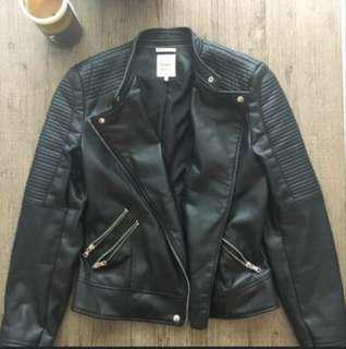 Zara leather jacket size Small