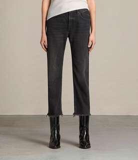 Allsaints mazzy straight crop jeans / size 25