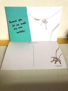 hkd0.1/張 Tiffany & Co. thank you postcard 感謝卡