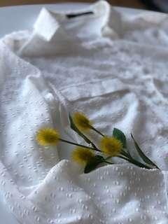 Zara white blouse XS