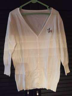 Cardigan white jacket sweater