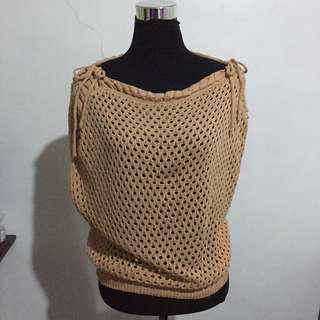 Cable Knit Brown Top