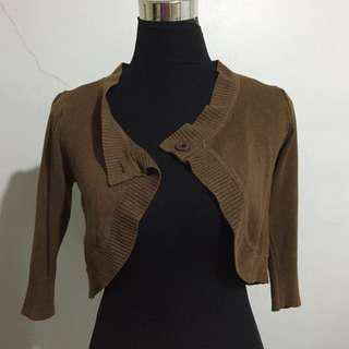Brown Knit Bolero