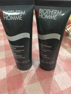 Biotherm Homme Cleanser & facial exfoliator