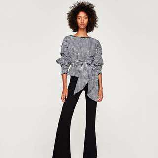 Zara Inspired Plaid Blouse