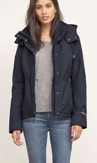 A&F Navy Jacket All Weather Warrior Size Small