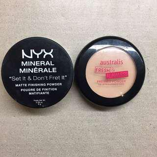 NYX Loose Setting Powder & Australis setting powder