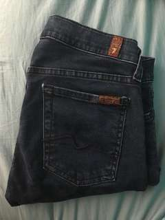 7 for All Mankind Dark Wash Skinny Jeans size 27