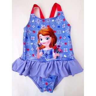 New Disney Princess Sofia swimsuit 全新女童蘇菲亞公主一件頭泳衣