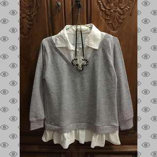Blouse grey (inner + outer)