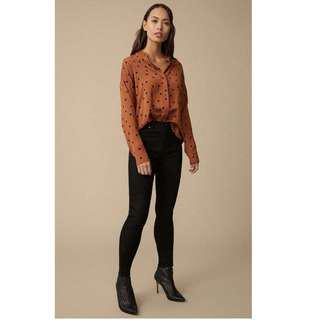 New! Winter 2018 style Witchery spotted blouse/shirt RRP$99.95