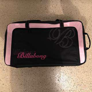USED- Billabong canvas suitcase