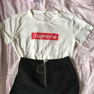 SALES Supreme White Tee Shirt Inspired