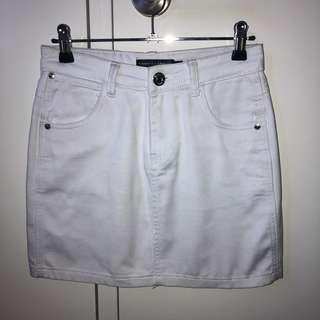 White Denim Skirt S6