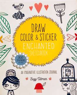 Draw Color and Sticker Coloring Book Art