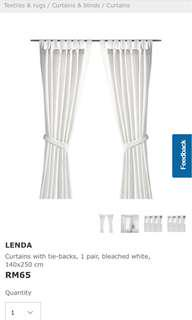 NEW Ikea Curtain Lenda