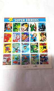 USPS DC COMICS SUPERHEROES Sheet 20 Stamps 2006