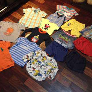Preloved Boy Clothes (2-3y) 14Pcs For RM45