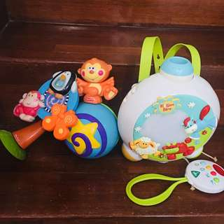 Fisher Price Lullaby Light Projector with 2 free toys