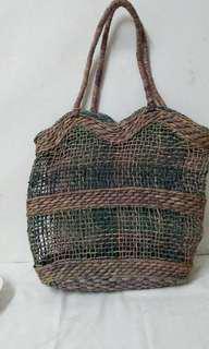 Coloured Straw bag