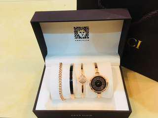 💥ANNE KLEIN Bangle Watch and Bracelet Set