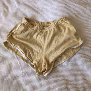 American Apparel Booty Shorts - Nude