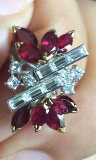 紅寶石加鑽石