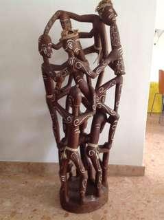 Papua Asmat Tribe Wood Sculpture