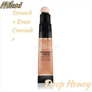 INSTOCK Milani Cosmetics Retouch Erase Light Lifting Concealer - DEEP HONEY / Milani Retouch + Erase Light Lifting Concealer in DEEP HONEY