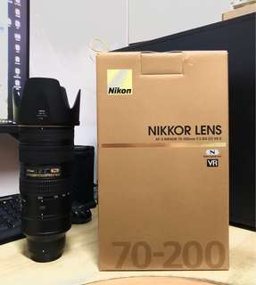 Nikon AF-S 70-200mm f2.8G VR2