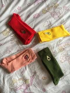 Korea Fruit Print Long Socks