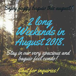 Accepting stays starting August 1,2018