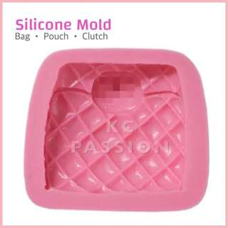 👛 BAG • POUCH • CHANEL CLUTCH BAG SILICONE MOLD TOOL for Pastry • Chocolate • Fondant • Gum Paste • Candy Melts • Jelly • Gummies • Agar Agar • Ice • Resin • Polymer Clay Craft Art • Candle Wax • Soap Mold • Chalk • Crayon Mould •