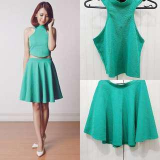 Apartment Eight Green Top & Skirt