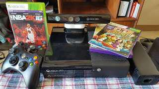 XBOX 360 with Kinect (3mos used only) complete package