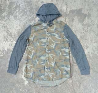 Authentic Garment Camo Hoodie Flannel