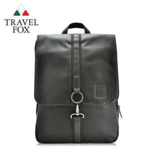 TRAVEL FOX 旅狐】時尚皮質三層減壓電腦後背包 (TB535-01) 黑色