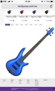 Ibanez sr300 四弦電貝斯 印尼廠 藍色