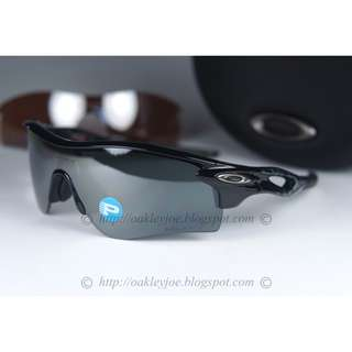 3964962cc2 BINB Oakley Radarlock Path black + black polarized + vr28 lens oo9181-12  sunglass