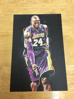 Kobe Bryant Lakers 湖人 24 nba postcard 油畫 收藏卡 明信片 籃球 basketball