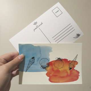Shell Print Postcards by The Write Type