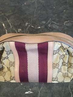 Authentic Gucci cosmetic case