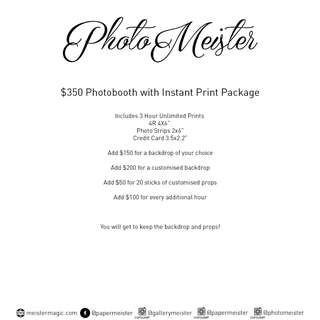 PhotoMeister PhotoBooth Package